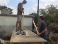 Construction de la brouette géante (2)