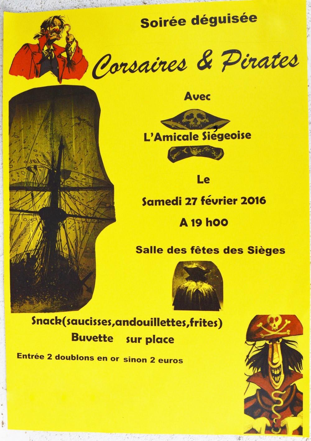 Affiche de Corsaires et Pirates 2016