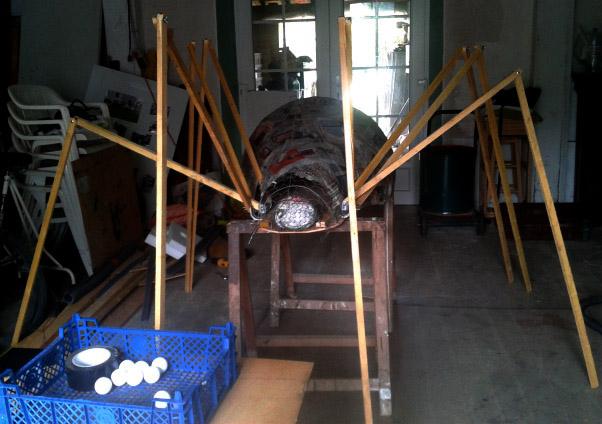 Araignée géante symbole d'Halloween 2016 aux Sièges