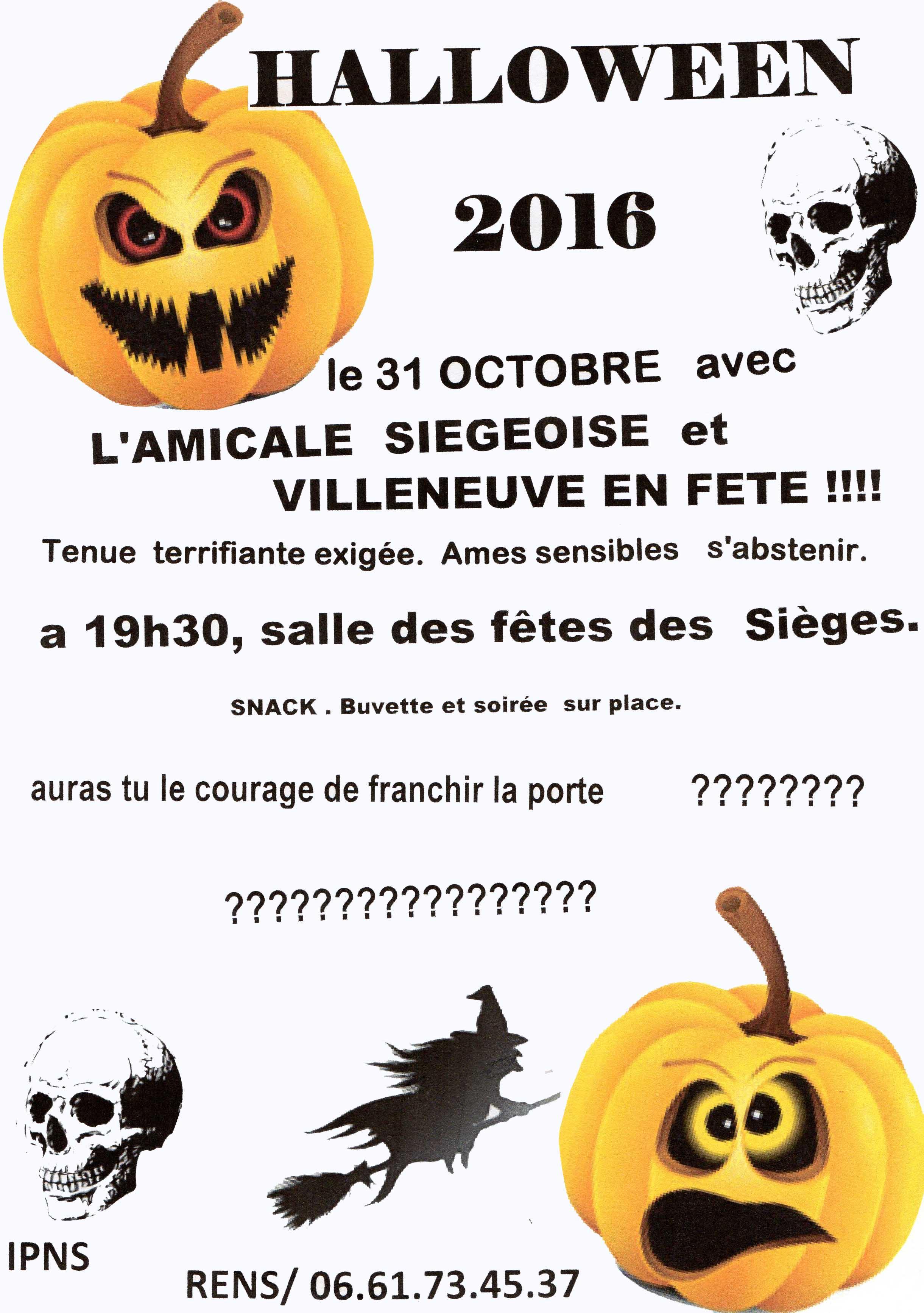 Affiche Halloween 2016